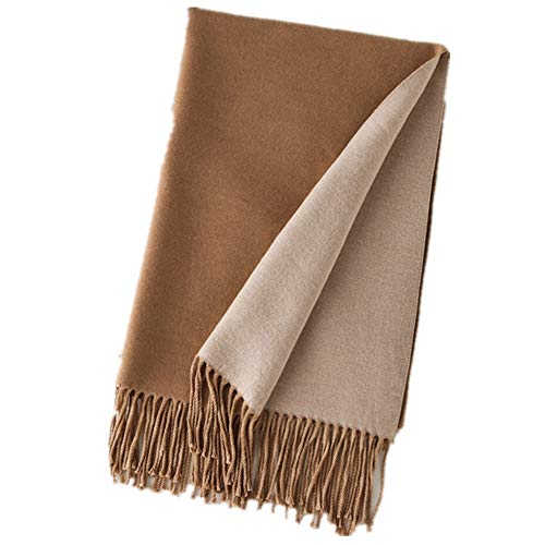 Wushiyan Womens Large Soft Feel Wraps Bufanda Cuadrada Bufanda A Cuadros Caliente Manta de Moda Bufanda Señora Bufandas de Invierno (Color : Camel Beige)