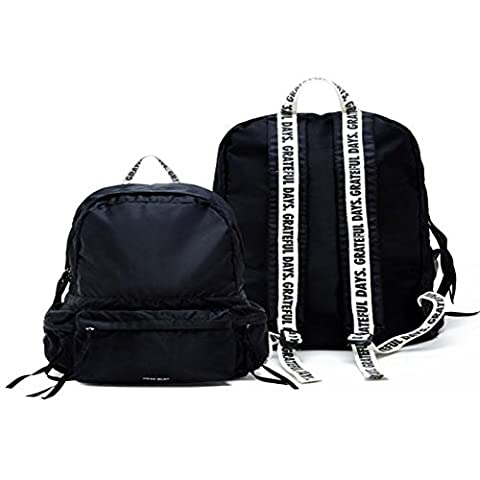 Kpop support Exo K Mode Sac à dos d'école Bookbag-unionobjet Capsule169, noir