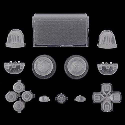 GOZAR Los Botones De Ajuste Completo Brillan En Las Piezas De Repuesto Dark Dpad Para Sony Ps4 Controller