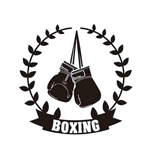 Boxhandschuh Aufkleber Kick Boxer Spielen Auto Aufkleber Poster Vinyl Striker Wandtattoos Parede Decor 40 Cm x 40 Cm (Boxhandschuhe Spielen)
