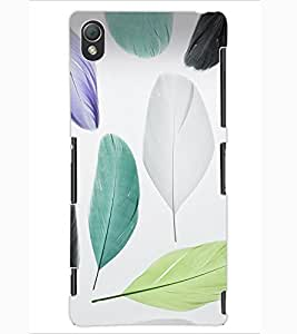 ColourCraft Colourful Feathers Design Back Case Cover for SONY XPERIA Z3
