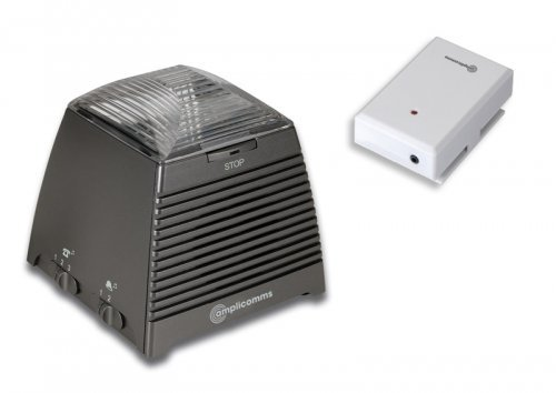 Preisvergleich Produktbild amplicomms Ringflash 250, Telefonanruf- und Türklingelverstärker mit hellem Blitz und lautem Ton