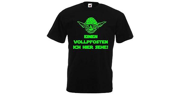 Master Yoda Herren T Shirt Star Wars Einen Vollpfosten Ich Hier Sehe