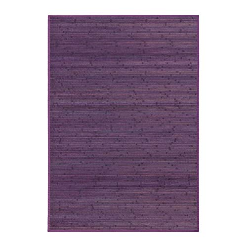 Alfombra bambú violeta 200 x 140 cm