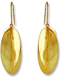 Aastha Jain Golden Petal Sterling Silver(18k gold plated) Earring For Women