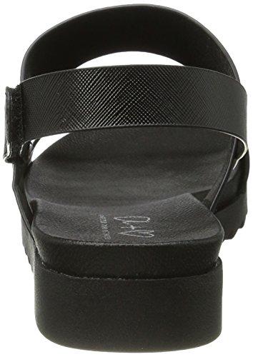 Another Pair of Shoes Sinae1, Sandales Bout Ouvert Femme Noir (Black01)