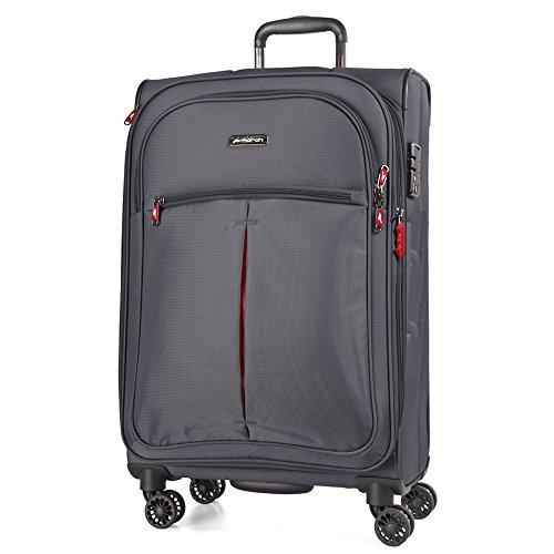 March Arrow S 4 roues valise valise 55 cm 37 L, gris (gris) - 2040-52