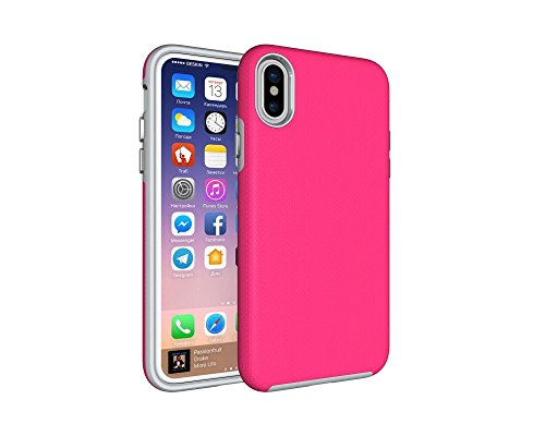 SAMRICK Dual Layer Case für Apple iPhone 8 Rosa