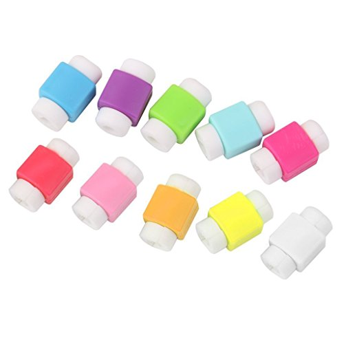 Brain Freezer Cable Protector Cover for iPhone iPad USB Charger Cable (10pcs) Multicolour