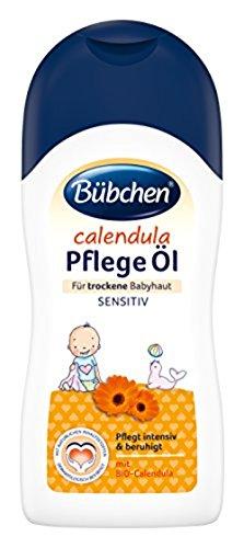 Bübchen Calendula Pflege öl für trockene und sensible Babyhaut Baby Pflege- und Massageöl mit Bio-Calendula Menge, 1er Pack (1 x 200 ml)