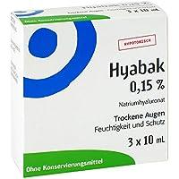 Hyabak Augentropfen 3X10 ml preisvergleich bei billige-tabletten.eu