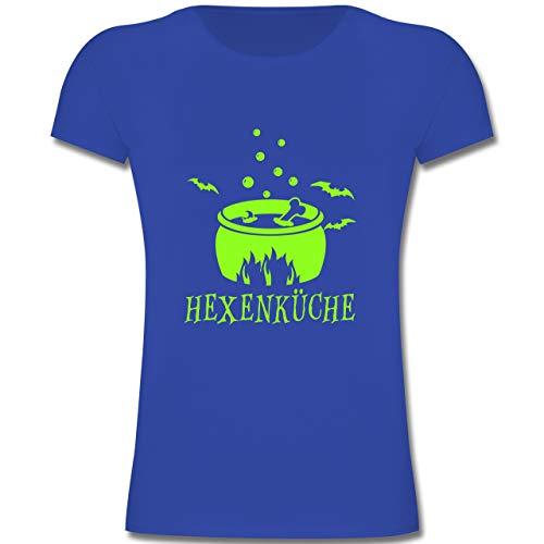 Kleine Köche & Bäcker - Hexenküche - 116 (5-6 Jahre) - Royalblau - F131K - Mädchen Kinder T-Shirt (Weiße Magierin Kostüm Kind)