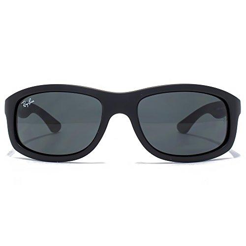 Ray-Ban Junior Wrapped Sunglasses in Matte Black RJ9058S 700187 50