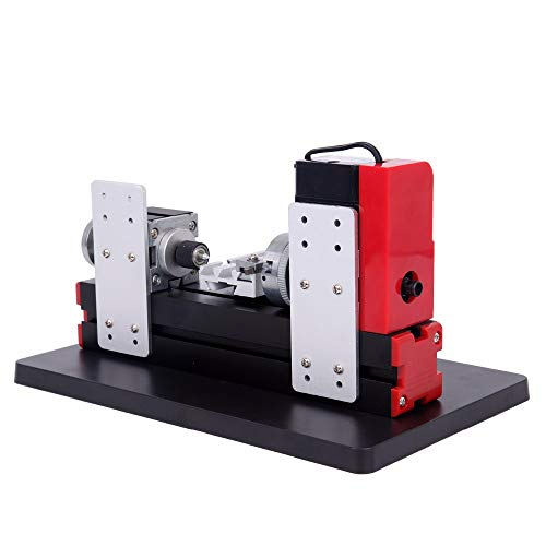 SISHUINIANHUA 24W Metall Mini Drehmaschine Drehmaschine DIY