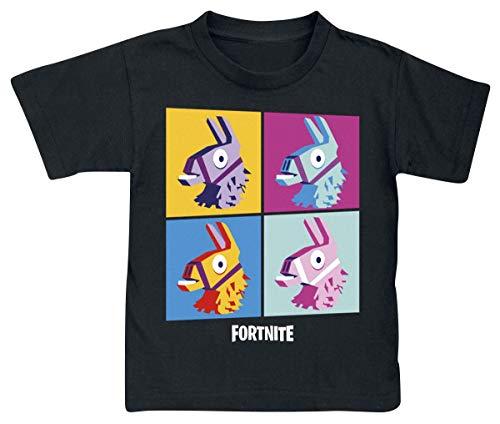 Fortnite Camiseta para Niños (10 años, Black Print)