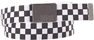 Vans Herren Gürtel M Deppster Web Belt, Black/White, One size, V6D8Y28