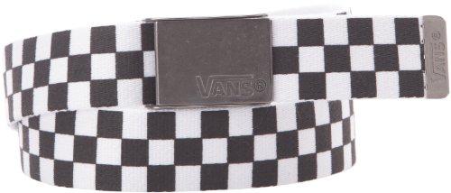 Vans - Gürtel M Deppster Web Belt, Cintura uomo, Nero (Black/White), One size
