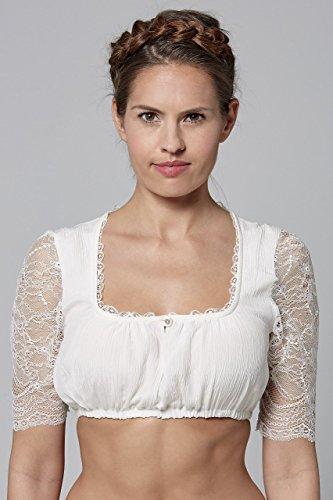 Michaelax-Fashion-Trade - Chemisier - Manches Courtes - Femme Blanc - blanc