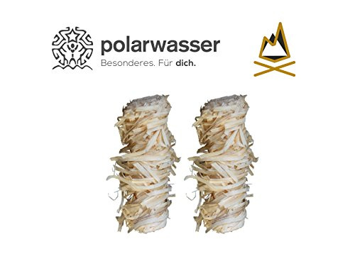 Polarwasser - 5kg Bio Anzünder aus Holzwolle und Wachs Kamin Ofen Grill Anzünder 5000g