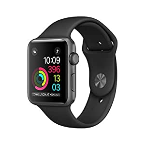 Apple Watch Series 1 - Reloj inteligente con pantalla OLED y correa deportiva, resolución de 312 x 390 pixeles, brillo de 450 cd/m²
