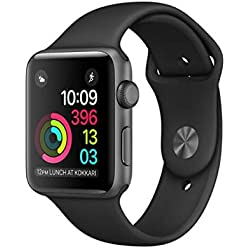 Apple Watch Series 1 - Reloj inteligente con pantalla OLED y correa deportiva, resolución de 312 x 390 pixeles, brillo de 450 cd/m²