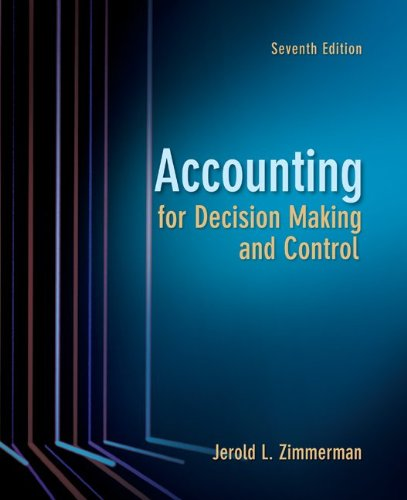 Accounting for Decision Making and Control por Jerold Zimmerman