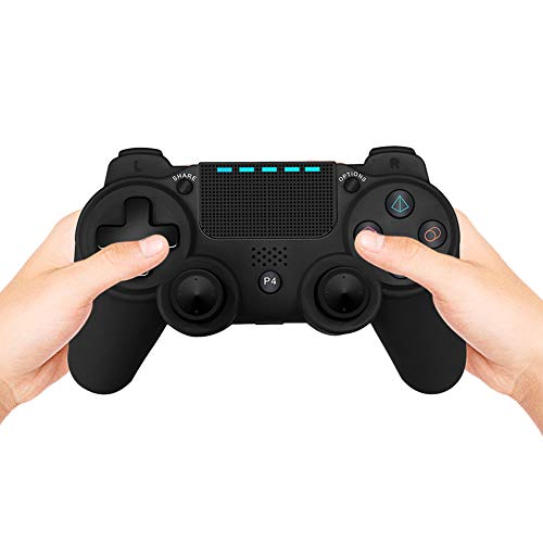 Docooler Gaming Controller Wireless BT Gamepad Dual Vibration mit 3,5-mm-Audioanschluss Kompatibel mit Playstation 4 PS4 DualShock 4