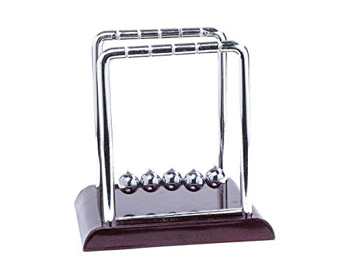 Futurekart Newton Cradle Pendulum Swing Balance Ball Decoration for Home Office Desk Toy - Brown / Small,7.5*9*9cm
