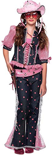 Alte Kostüm West - Carnevale Venizano CAV51032-L - Kinderkostüm Ragazza DEL West Ragazza - Alter: 7-10 Jahre - Größe: L
