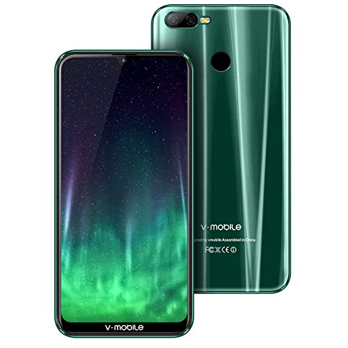 """Smartphone Offerta del Giorno,V-mobileM9 Pro 6.3"""" 4GB+64GB Android 8.1 4800mAh Schermo Notch(19: 9), Triplo Slot 2 Mircro SIMs+1 MicroSD, Octa Core Cellulari Offerte Fotocamera 8MP (green)"""
