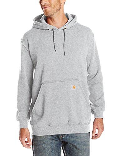 Carhartt Workwear Kapuzenpullover Hooded Sweater Original Fit, L, hellgrau, K121HGY Carhartt Logo Hooded Pullover Sweatshirt