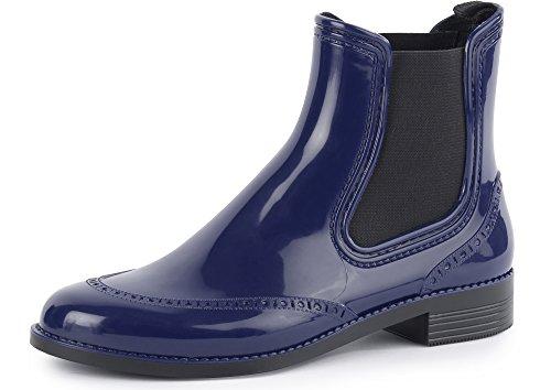 Ladeheid Botas de Caucho de Goma Zapatos de Seguridad Mujer PA160P Azul Oscuro, EU 39