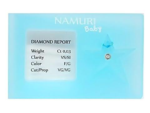 Namuri Diamant Zertifikat Geburt Stern männlich (0,03 Ct Diamant-set)