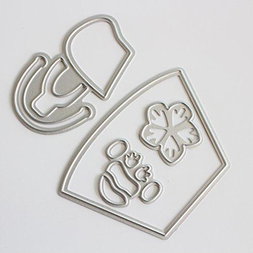 Lifet - Stencil a Forma di Borsetta, in Metallo, per Album di Scrapbooking