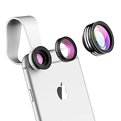 Mpow® 3 in 1 Clip-On 180 Degree Supreme Fisheye + 0.65X Wide Angle+ 10X Macro Lens for iPhone 6s / 6s Plus, iPhone 6 / 6 Plus, iPhone 5 5S 4 4S Samsung HTC and Other
