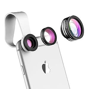 Mpow 3in 1clip-on 180gradi suprema fisheye + 0.65x Grandangolo + 10x obiettivo macro per iPhone 6s/6s Plus, iPhone 6/6Plus, iPhone 55S 44S, Samsung, HTC e altri smartphone