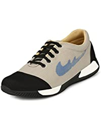 Fucasso Men Synthetic Beige Black Casual Sneaker Shoes