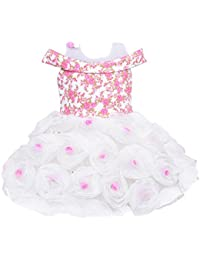 Wish Karo Baby Girls Frock Birthday Dress for Girls - Net - (bxa161)