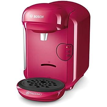 Bosch TAS1401 Tassimo Vivy 2, Cafetera automática de cápsulas, diseño compacto, 1300 W, color fucsia