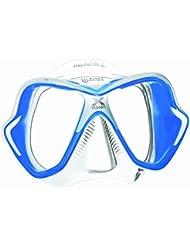 Mares X-Vision LiquidSkin 13 Scuba Diving Mask - Blue-White/Clear-Blue