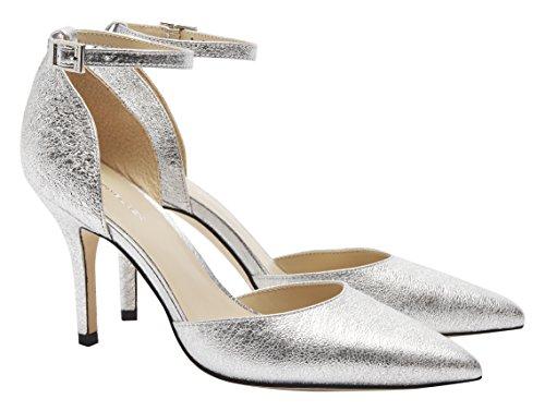 Pennyblack Scuola, Chaussures à Brides Femme Argent