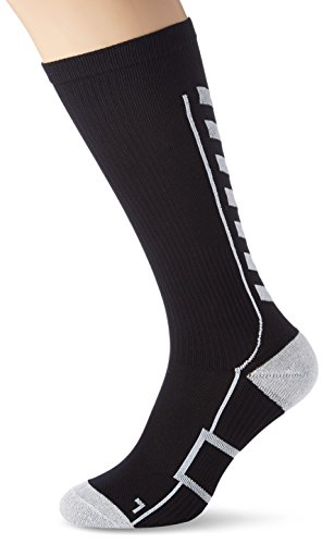 Hummel TECH Indoor Socks HIGH, Black/White, 12 (41-45)
