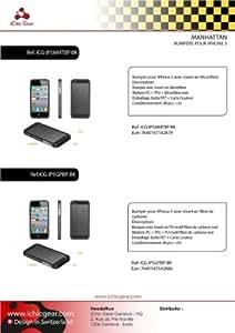 Ichic Gear-Manhattan ICG-IP5MHTBP-BK - Bumper avec poignéeen microfibre pour iPhone 5 - Noir