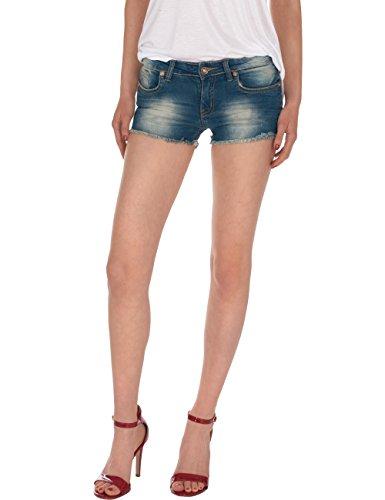 Fraternel Damen Jeans Kurze Hose Shorts Hotpants Blau M / 38 -
