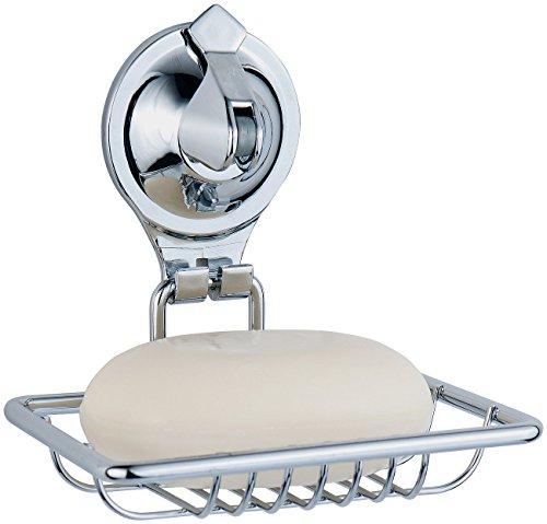 Carlo Milano Wandablage für Seife: Seifenhalter mit Saugnapf, aus verchromtem Edelstahl, kein Bohren (Seifen-Halter für Bad, Badezimmer, Badewanne, Wanne, Dusche) Test