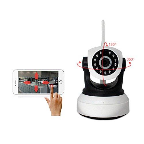 Überwachungskamera System Video Überwachungsset Soporte para La Detección Móvil, La Cámara Puede Aprender El Emparejamiento Con La Misma Frecuencia (433M) Sensor Inalámbrico, Y La Construcción De Un Sistema De Alarma Inalámbrico, La Aplicación Empujaría El Mensaje De Alarma Del Teléfono HD WiFi Pan / Tilt IP-Kamera Hallo Res X72-LJM1