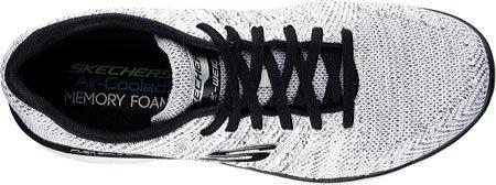 Skechers 52180 Flex Advantage 2.0 Scarpe da Ginnastica Basse uomo Bianco/Nero