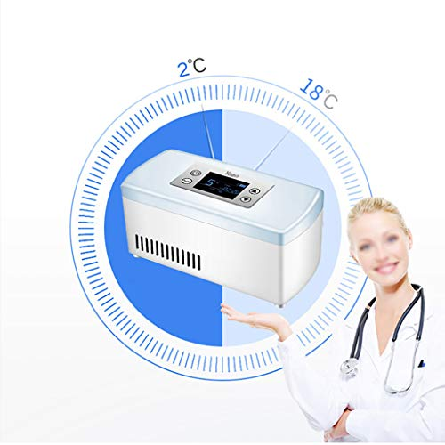 41XcQ9aXumL - Drug Reefer, mini refrigerador, caja de insulina para diabetes, caja de insulina para automóvil, refrigerador para automóvil, refrigerador portátil pequeño para medicamentos (blanco) Edición estándar