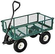 Sumo 0 SM Metal 4 Tyre Wheelbarrow Garbage Dump Cart (300 Kg Capacity)