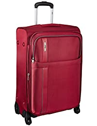 VIP Tryst Polyester Crimson Softsided Cabin Luggage